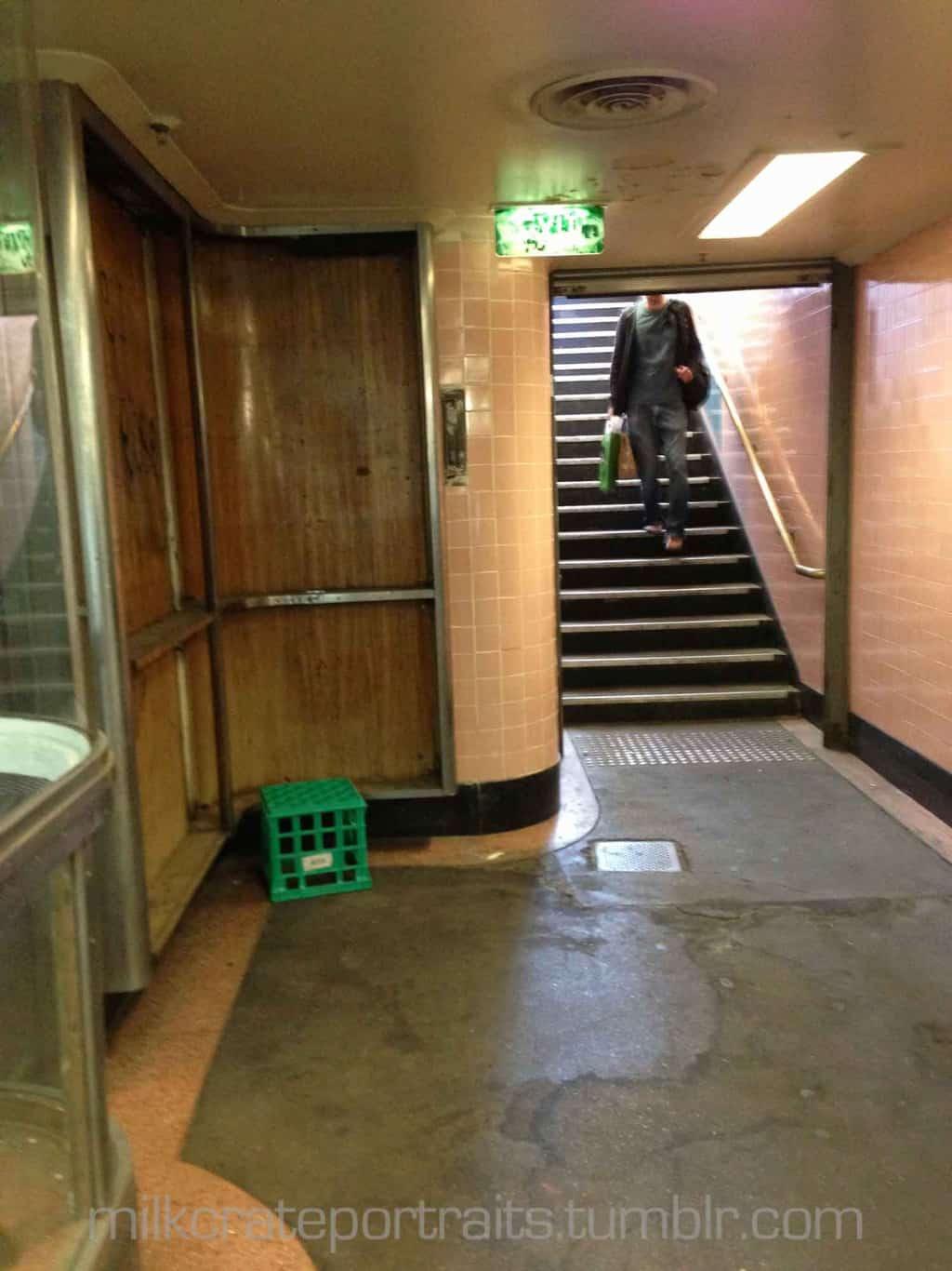Underneath Flinders St Station
