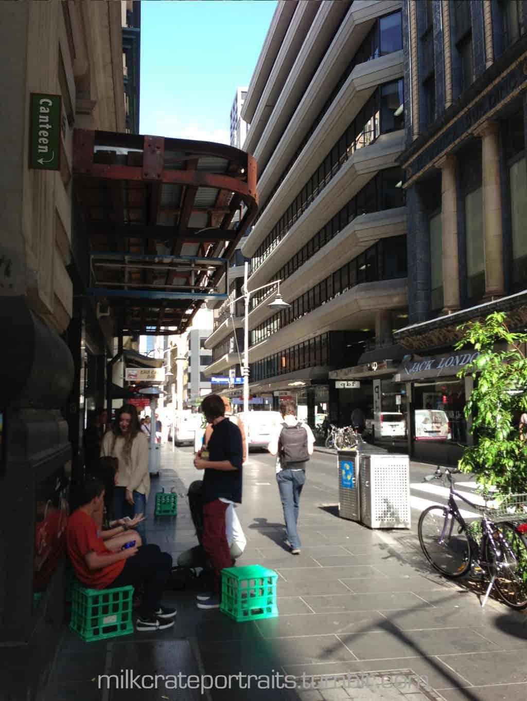 Hanging out in Flinders Lane