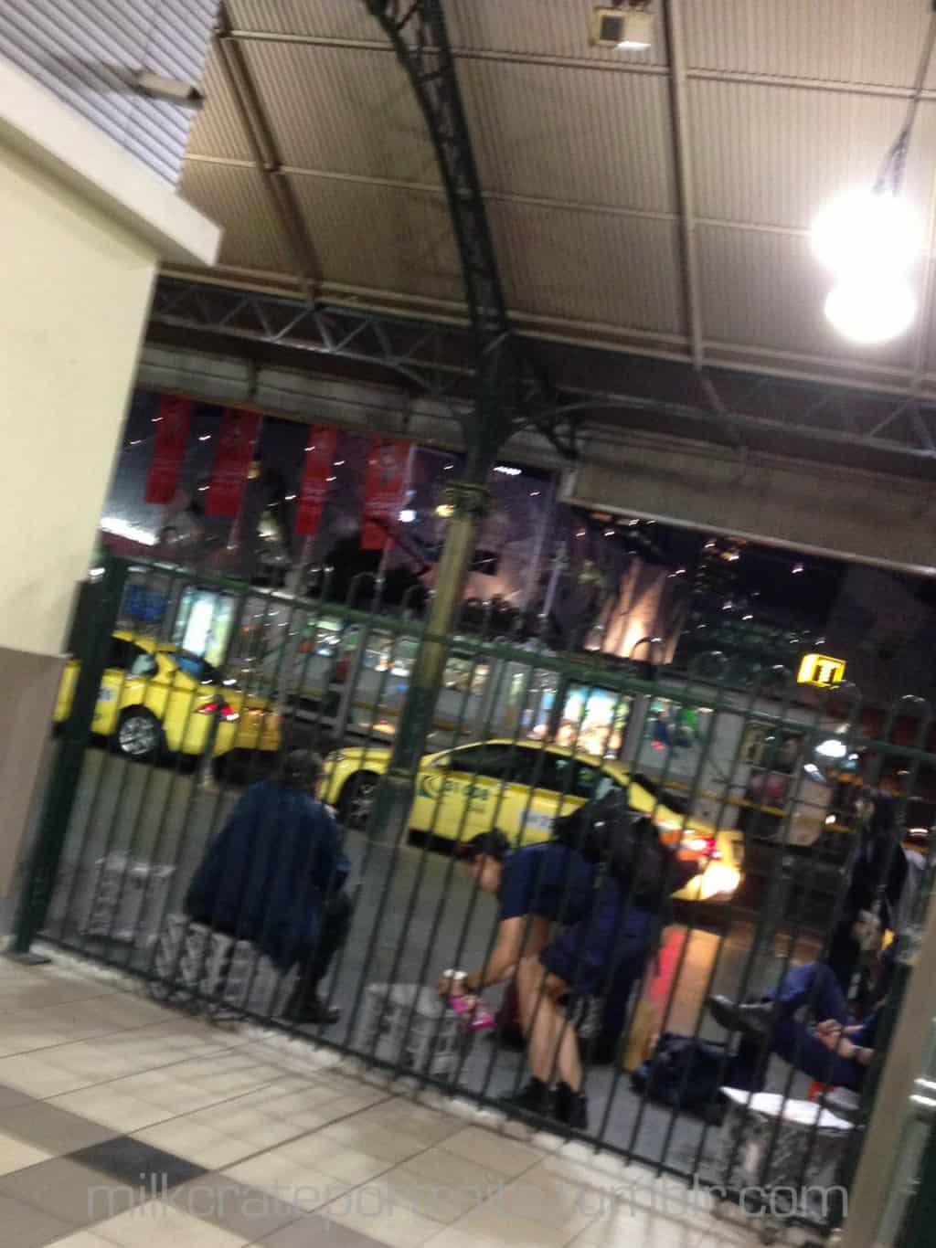 Waiting at Flinders St station