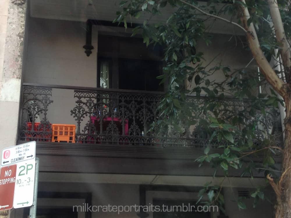 Balcony crate