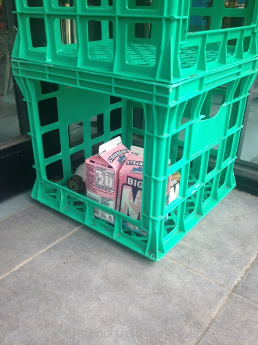 Cafe milk crates