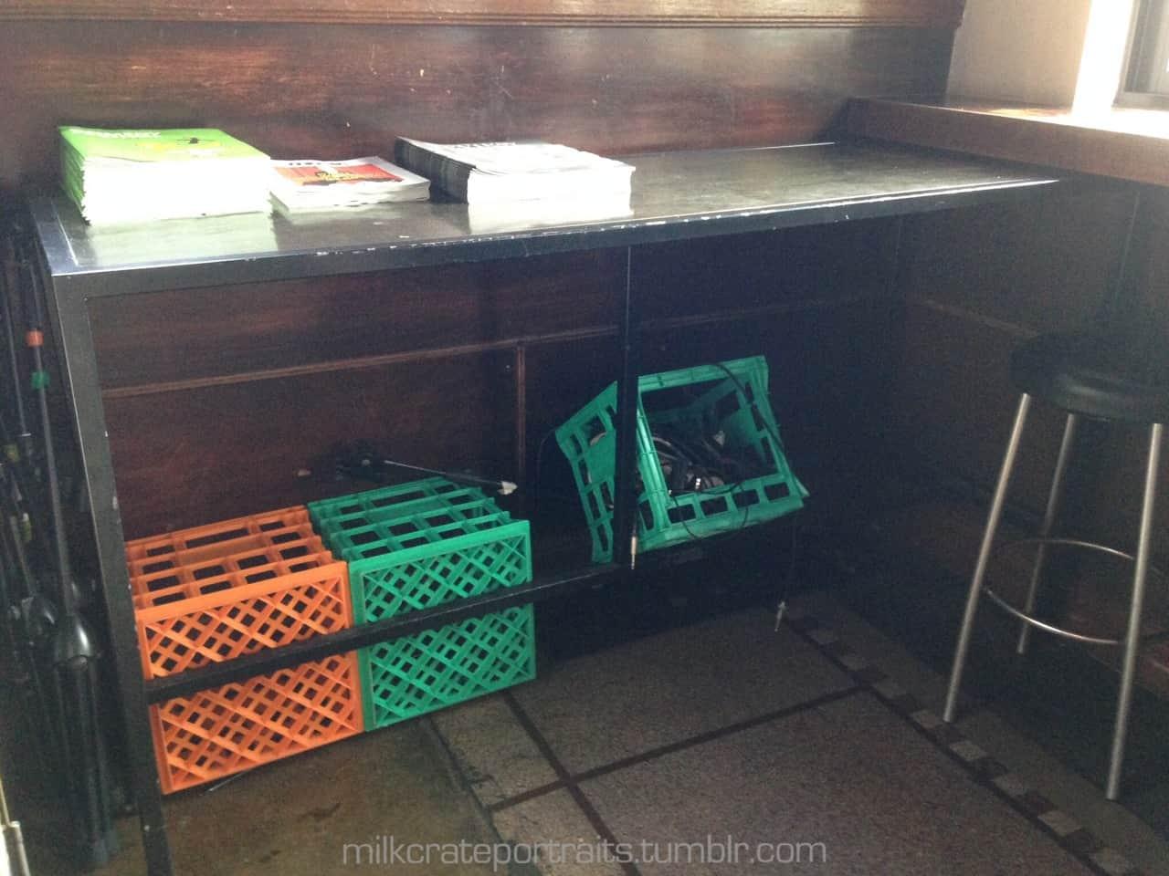 Venue milk crates