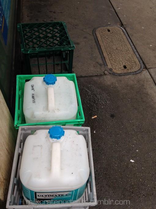 Chemical milk crates