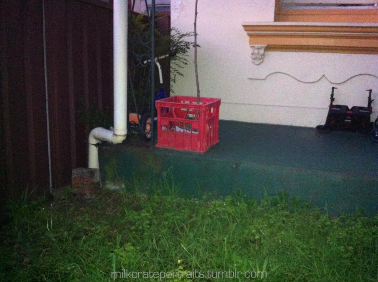 Porch milk crate