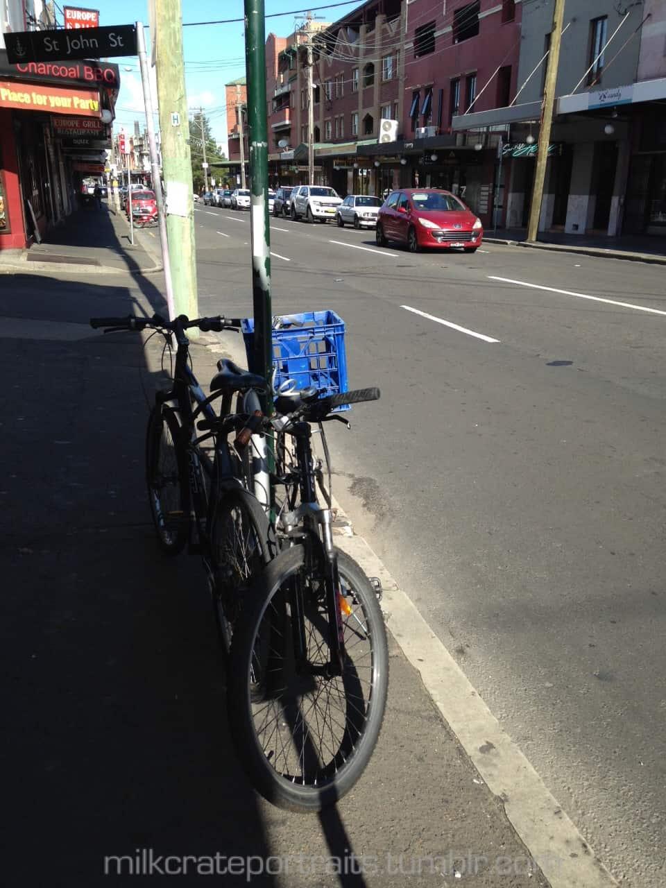 Bike milk crate