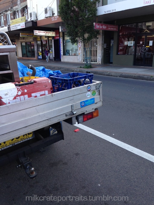 Tradie milk crate