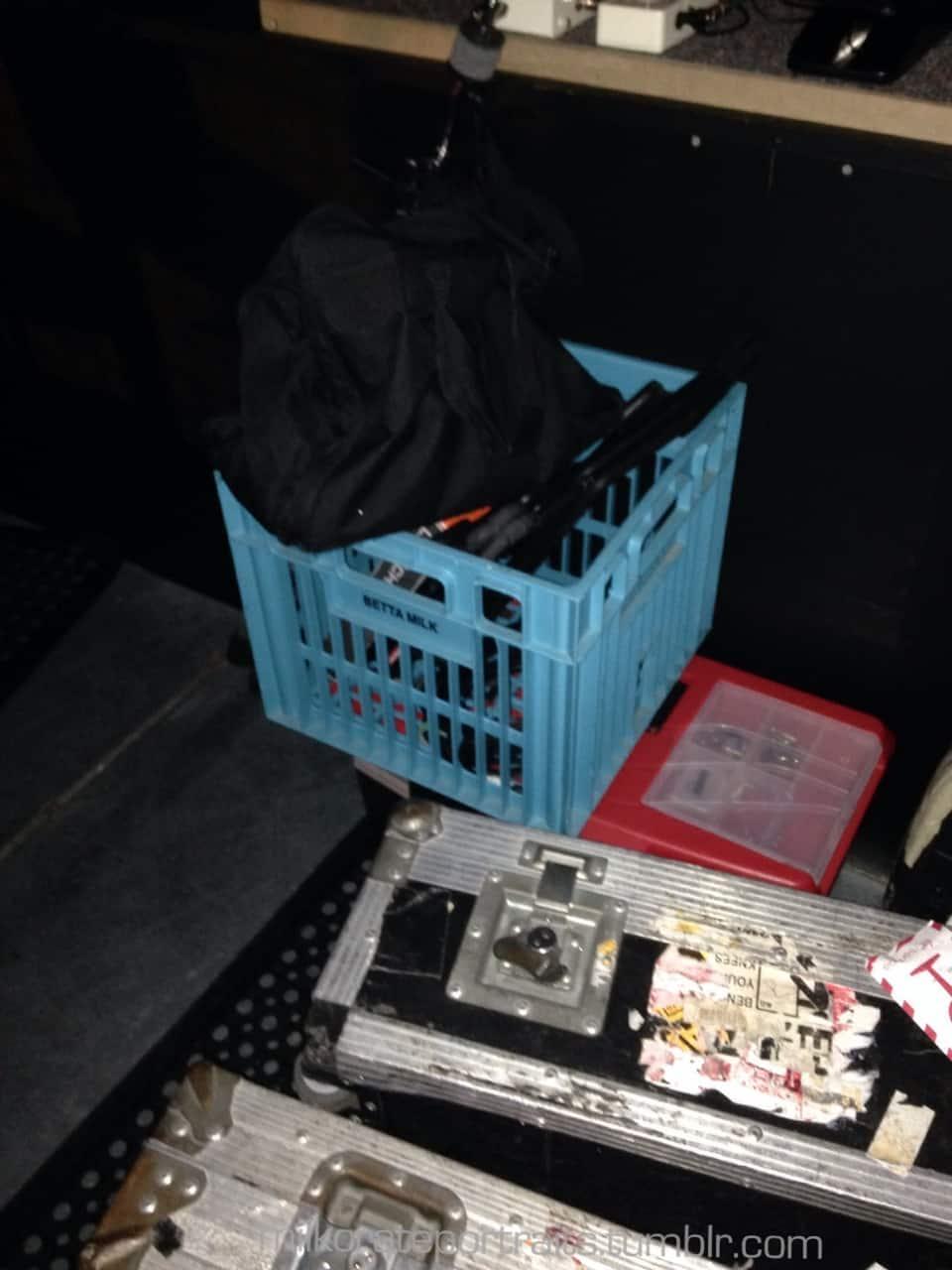 Backstage milk crate