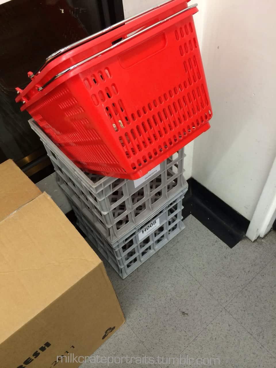 7-11 milk crate