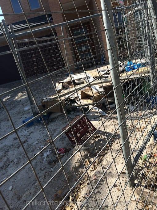 Construction site milk crate