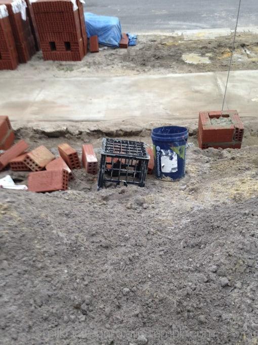 Construction site milk crates