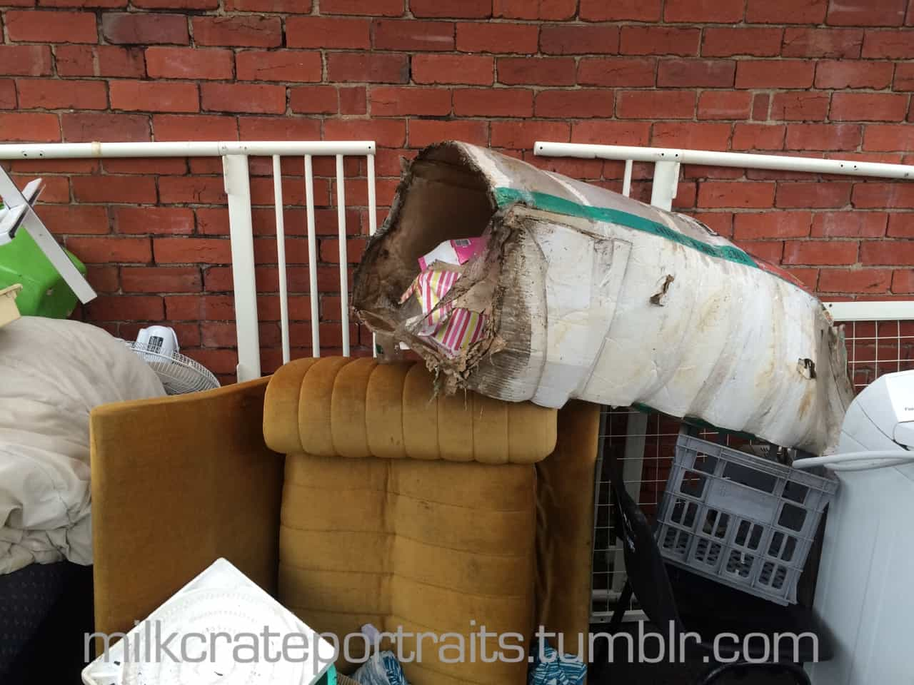 Dumped with the rubbish