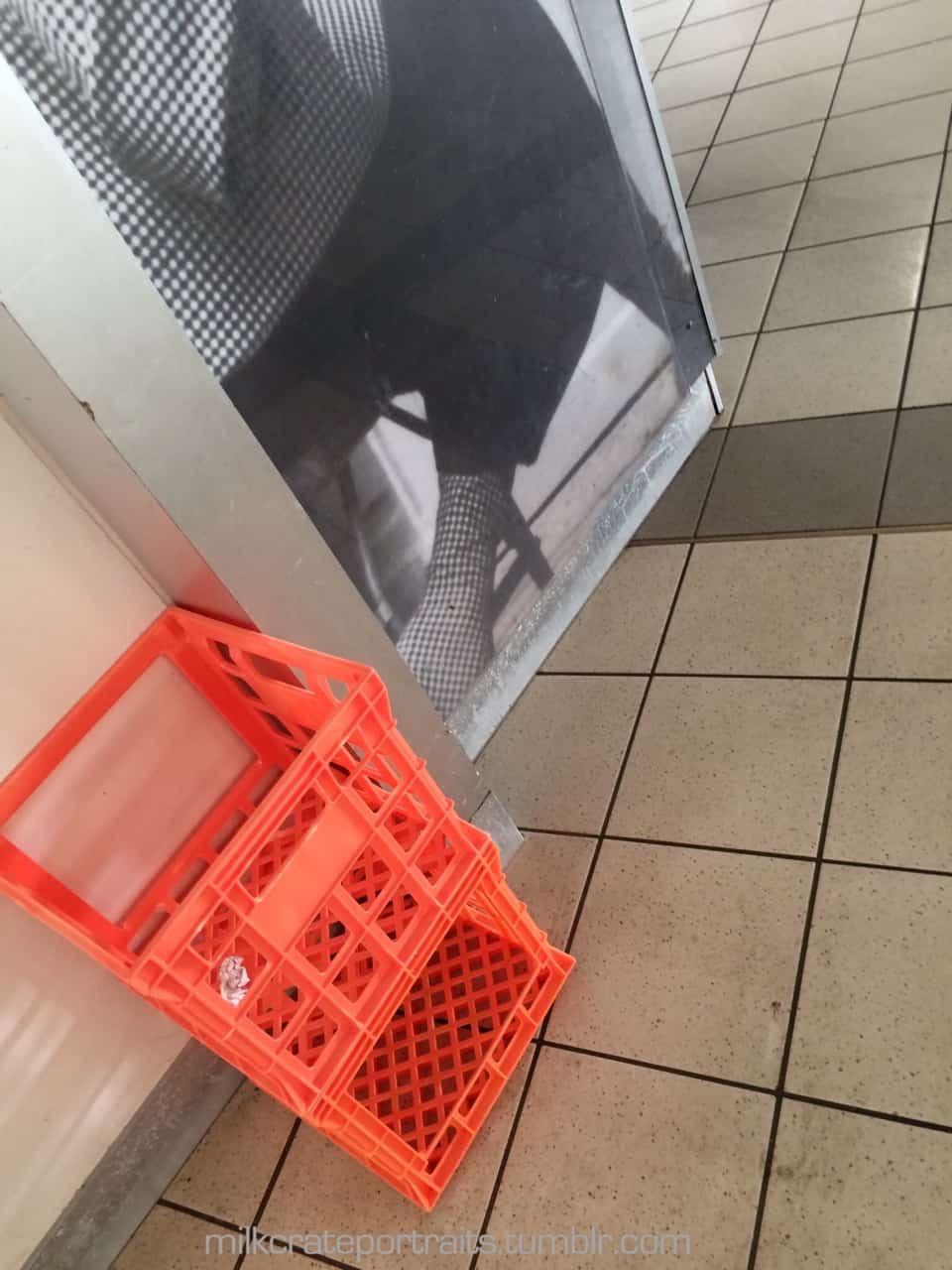 Cafe milk crates