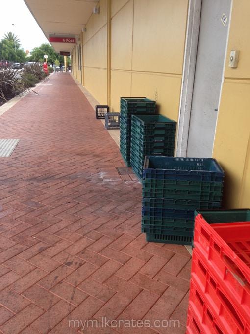 Walkway crates