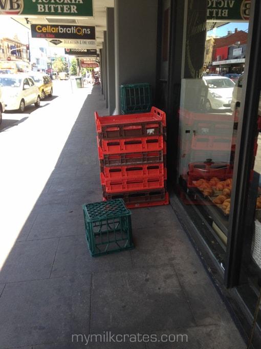 Bottle shop crates