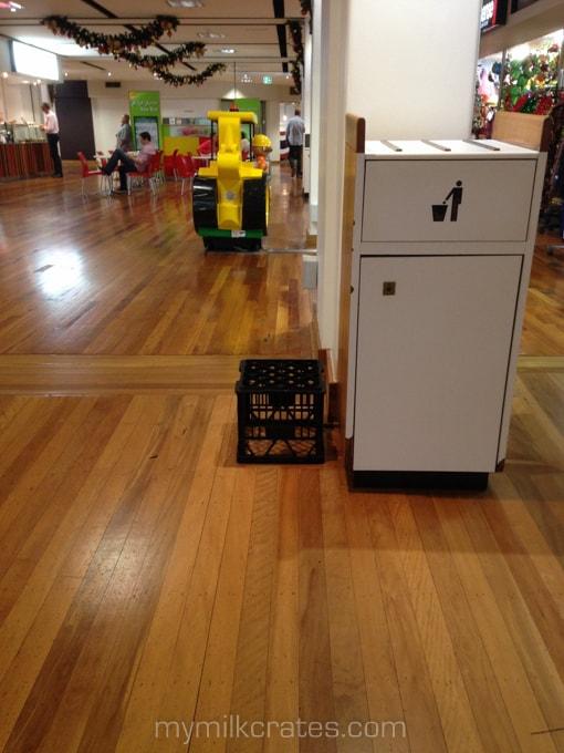 Black crate