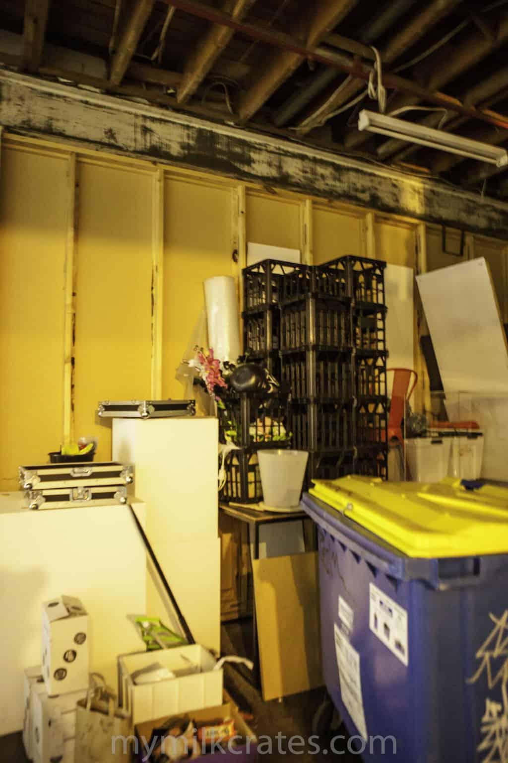 Back room crates
