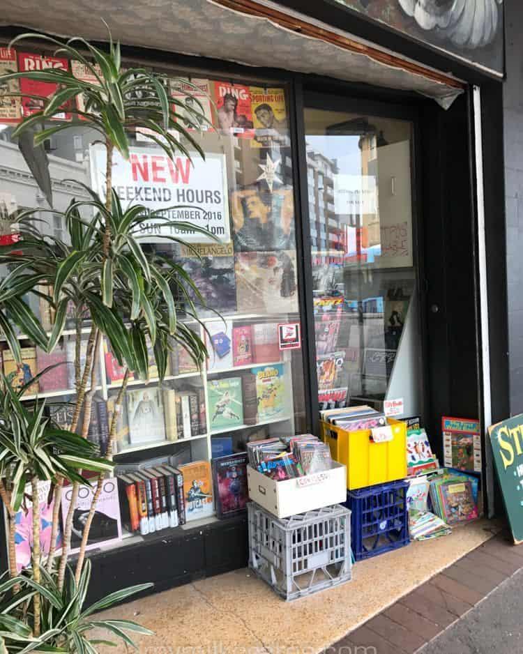 Book shop crates