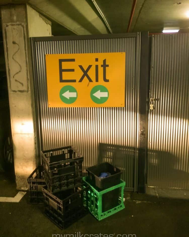 Exit crates