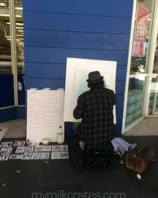 Artist busker