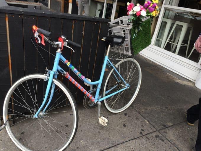 Decorated bike crate