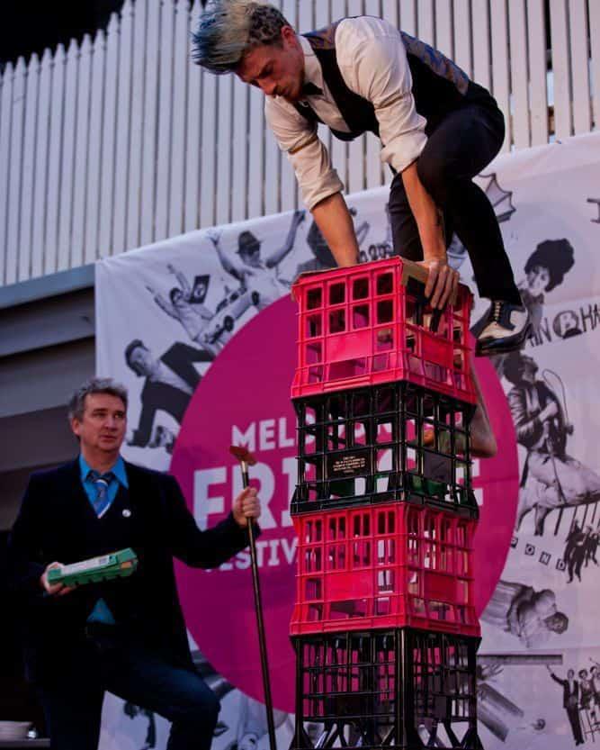 Fringe Festival crate stack