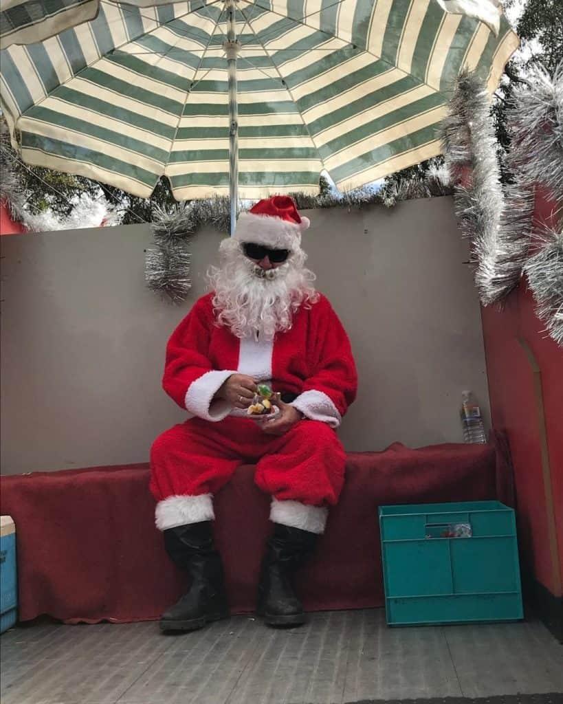CFA Santa with his crate. Merry Christmas everyone. #mymilkcrates #merrychristmas #cfa