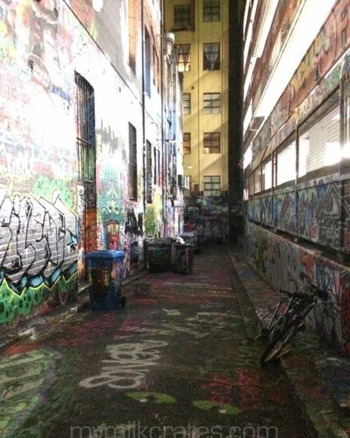 Melbourne laneway crates