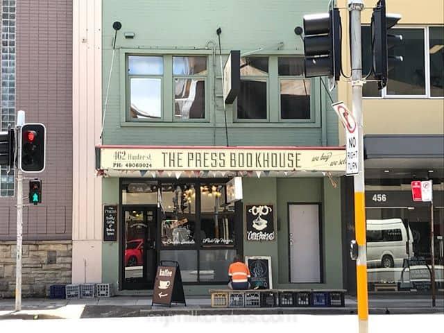 Newcastle cafe bookstore crates