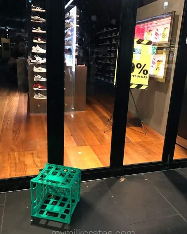 Shoe store crates