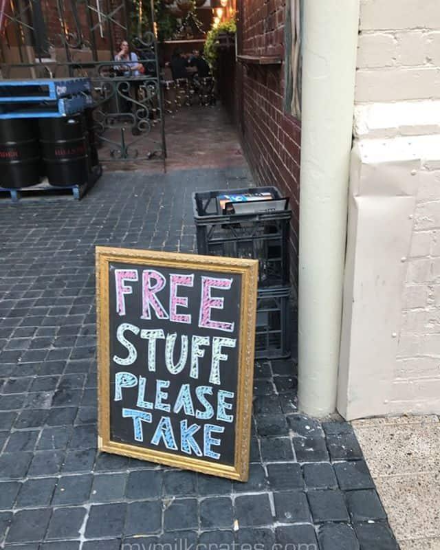 Are the milk crates free?