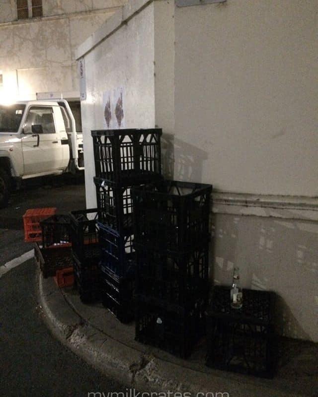 Black crates