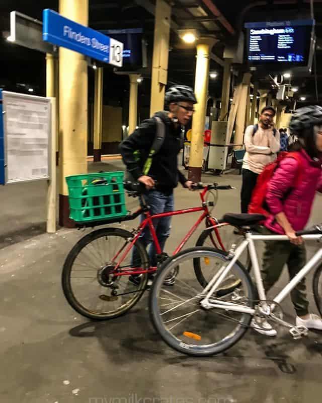 Flinder street station bike crate
