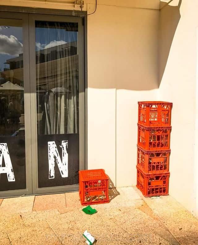 Orange stack ----------- #milkcrates #crates #streetphotography #streetscape #urbanscape #PhotoOfTheDay #picoftheday #urbanlife #instagram