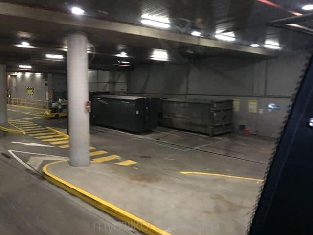 Train station crates