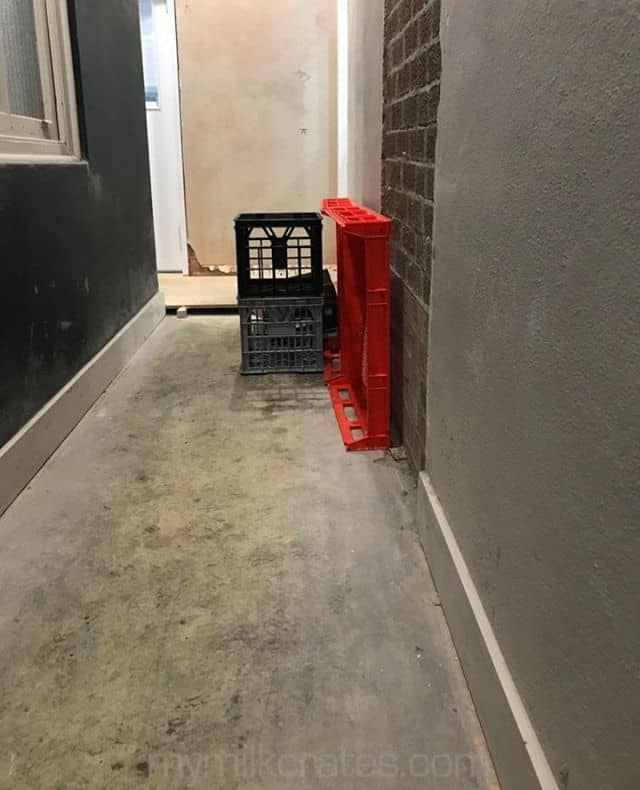 ⠀ Hallway crates⠀ -----------⠀ #milkcrates #crateoftheday #picoftheday #streetphotography #streetscape #urbanscape #PhotoOfTheDay #urbanlife #crates #instagram⠀ ⠀ See more at https://mymilkcrates.com/⠀ ------------