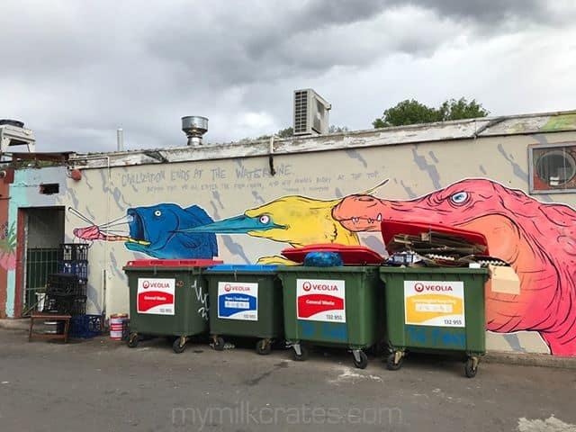 Street art crates⠀