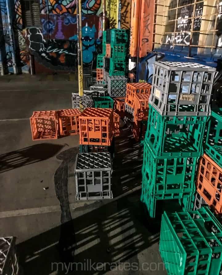 Many, many crates