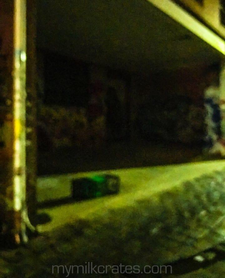 Blurry crates
