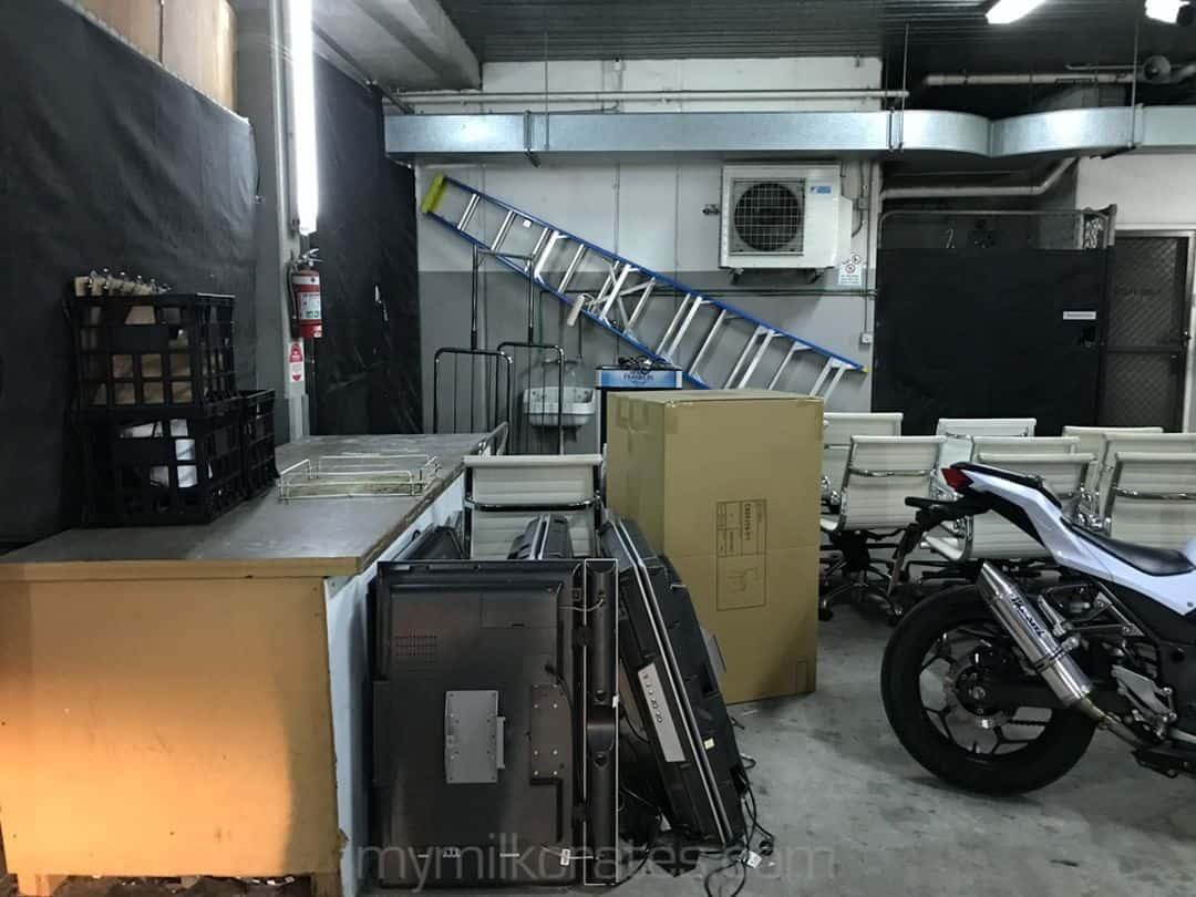 Parking garage crate