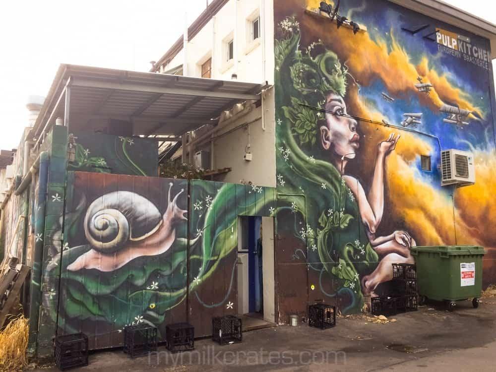 Street art crates