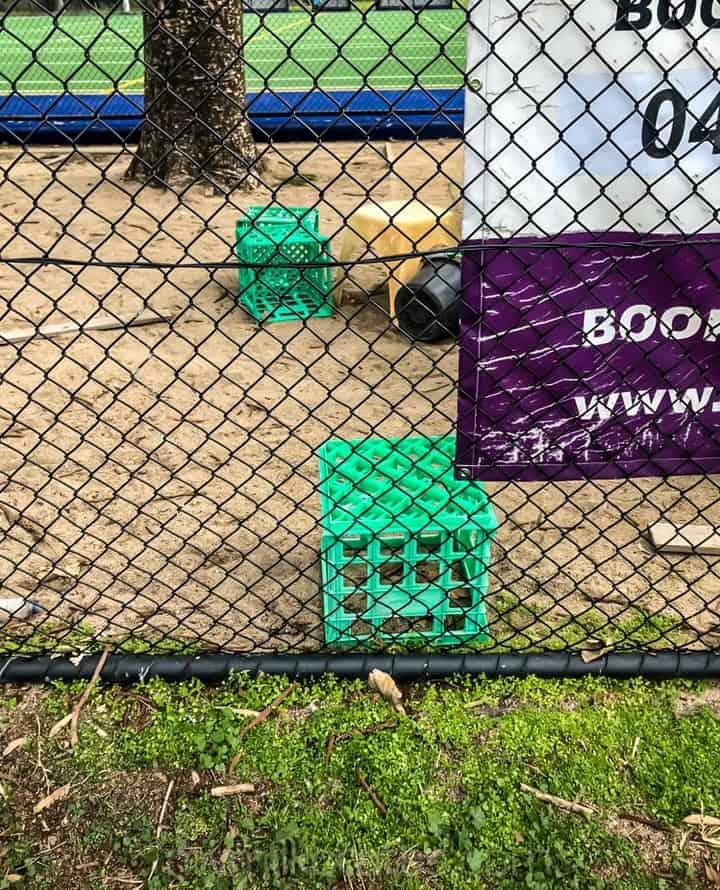 Green crates